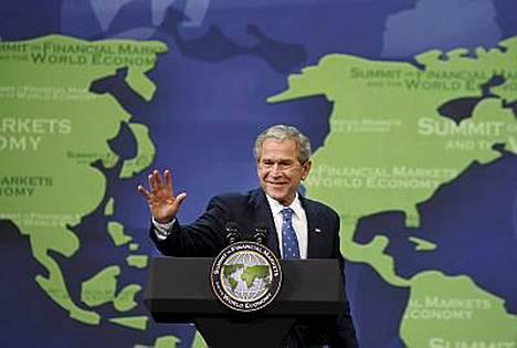 Yhdysvaltain presidentti George W. Bush päätti lehdistötilaisuutensa kansainvälisen konferenssin päätteeksi tokaisemalla yksinkertaisesti, mutta lopullisen tuntuisesti goodbye.