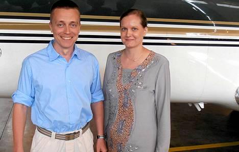 Atte ja Leila Kaleva saapuivat Suomeen perjantaina.