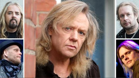 Jussi Hakulinen (kesk.) aikoo esiintyä neljän Yö-yhtyeen entisen ja kahden nykyisen jäsenen kanssa.