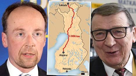Jussi Halla-aho (vas.) ilmoitti perjantaina turvautuvansa haastemieheen, jotta puolueen selvityspyyntö tavoittaa Raimo Vistbackan. Vistbacka on ensi viikon Norjassa.