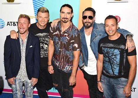 Tältä Backstreet Boys näyttää nykyään: Brian Littrell (vas.), Nick Carter, Kevin Richardson, AJ McLean ja Howie Dorough (oik.).