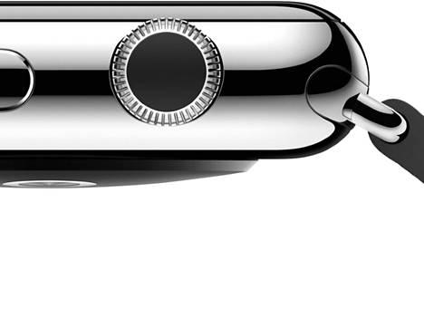 Apple ohjeistaa, kuinka rannekkeet voidaan kiinnittää älykelloon. Kiinnitysmekanismin alta löytyy myös salainen kuuden nastan liitin.