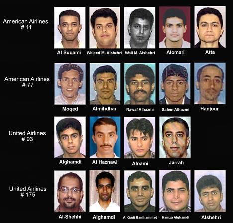 Yhdysvaltain oikeusministeriö julkaisi syyskuun lopussa 2001 kuvasarjan terrori-iskujen tekijöistä
