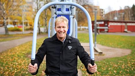 Liikunta ja urheilu on ollut aina lähellä Mika Anttosen sydäntä. Kuva Talin urheilupuistosta vuodelta 2018.