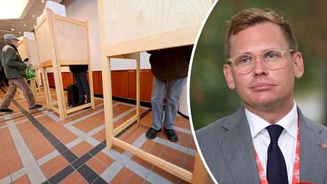 Sdp:n puoluesihteeri Antton Rönnholm selittää tiputusta viime vaaleista sukupolven vaihdoksella. Kuntavaalit pidetään 13. kesäkuuta.
