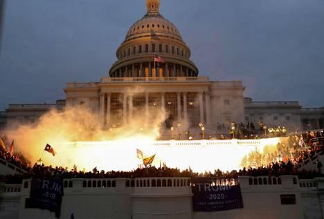 Tältä näytti iltapäivällä Capitolilla 6. tammikuuta.