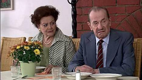 Marita Norberg ja Tapio Hämäläinen Uuno This is my life -elokuvassa 2005.