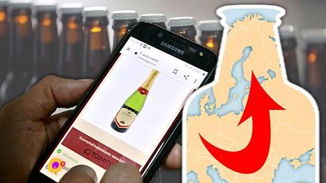 Alkoholia tilattiin ulkomailta vuonna 2020 jopa puolet enemmän kuin vuonna 2019.