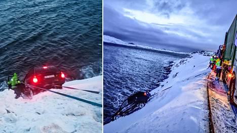 Pekka Lanko pelasti kuljettajan mereen putoamiselta.