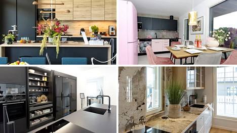 Keittiön trendiväri on siirtymässä tummasta vaaleaan. Murros näkyy asuntomessujen keittiöissä.