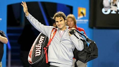 Roger Federer Australian avoimissa.
