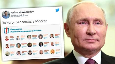 Aleksei Navalnyin tiimi julkaisi keskiviikkona nimilistat henkilöistä, joita se kehottaa äänestämään Yhtenäisen Venäjän ehdokkaiden sijaan ja Vladimir Putinin kiusaksi.