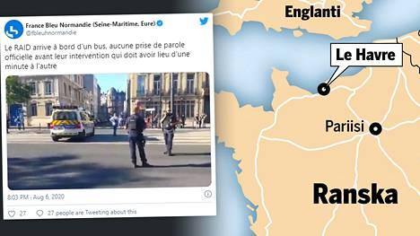 Panttivankitilanne alkoi torstaina Le Havren kylässä Ranskassa.