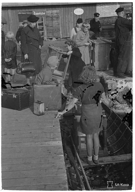 Porkkalan evakuointia 1944.