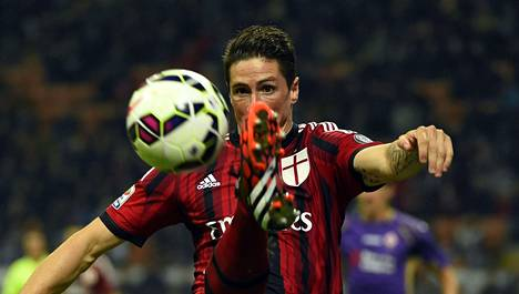 Fernando Torres ei onnistunut odotetusti AC Milanissa.