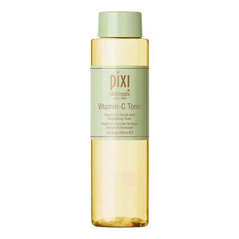 Kasvovesistään tunnetun Pixin Vitamin-C Tonic lupaa kirkastaa ihoa, 30,90 € / 250 ml, mm. Kicks.