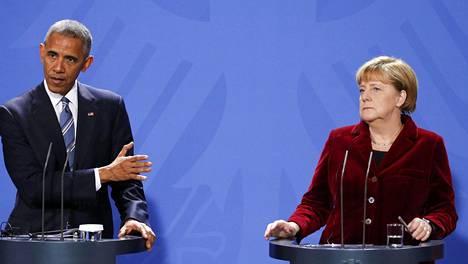 Barack Obama ja Angelma Merkel tapasivat torstaina Berliinissä.