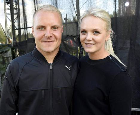 Valtteri ja Emilia Bottas elokuussa Duathlon-tapahtumassa Lahdessa.
