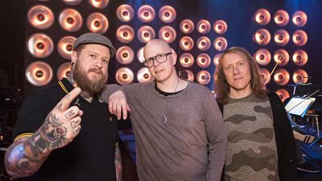 Apulannan jäsenet Ville Mäkinen, Toni Wirtanen, ja Simo Santapukki.