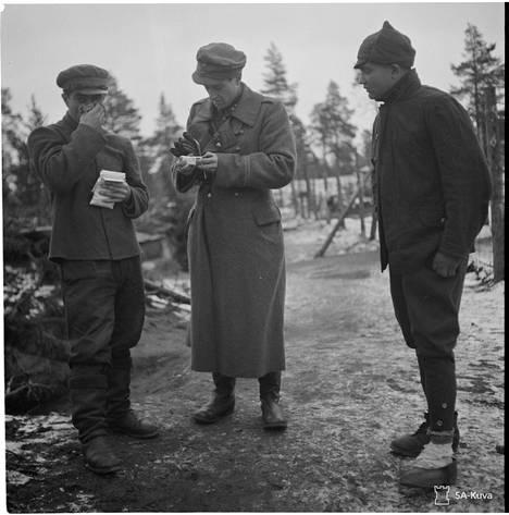Saksalaisilta Suomeen jääneitä lääkkeitä käytettiin mm. vankileireillä.