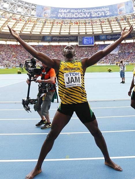 Moskovan MM-kisoissa 2013 Boltin juhlat sen kuin jatkuivat; tuloksena oli jälleen kolme kultamitalia.