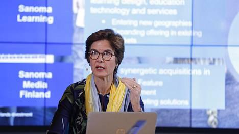 –Emme todennäköisestikään käytä koko 400 miljoonaa euroa Suomen medialiiketoimintaan, mutta emme myöskään yksinomaan Learningiin, Sanoman toimitusjohtaja Susan Duinhoven sanoo.