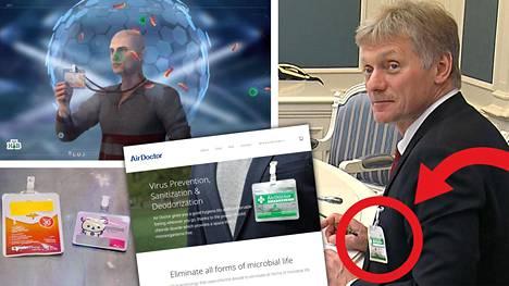 """Vladimir Putinin lehdistösihteeri Dmitri Peskov yritti suojautua koronavirukselta """"viruskarkottimella"""", joka on asiantuntijoiden mukaan paitsi tehoton niin myös vaarallinen."""