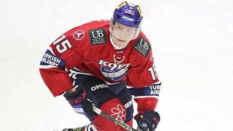 Anton Lundell on HIFK:n arvion mukaan kuusi viikkoa sivussa kaukalosta.