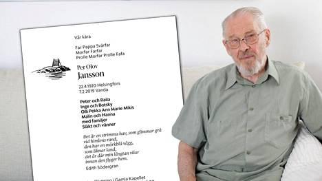 Suomenruotsalainen Per Olov Jansson tunnettiin taidevalokuvaajana.