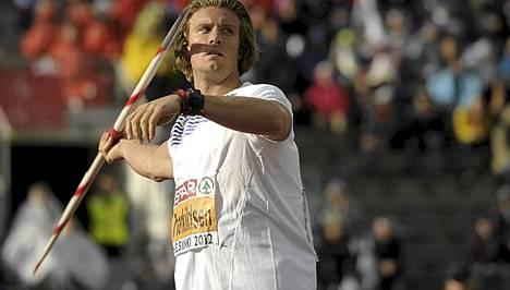 Andreas Thorkildsen jäi tällä kertaa neljänneksi.