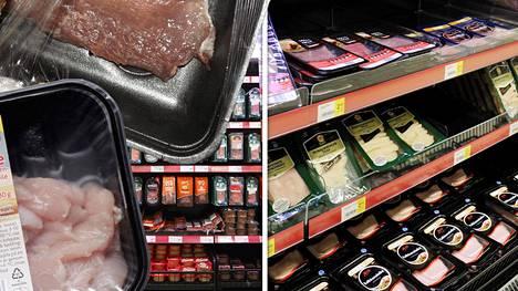 Lajittelulaitteet eivät tunnista mustia muovipakkauksia.