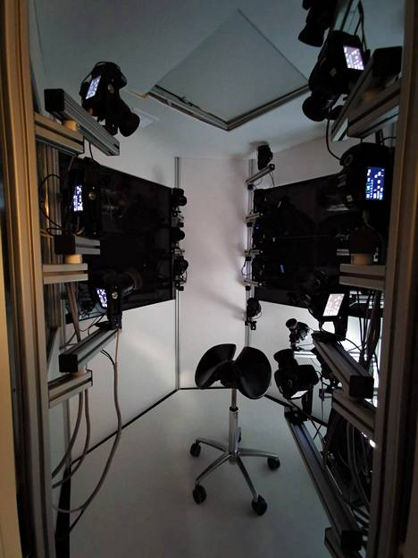 Ihmiskasvojen digitoimiseen Remedyllä on 30 kameran animointistudio.
