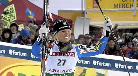 Anja Pärson vuonna 2007.