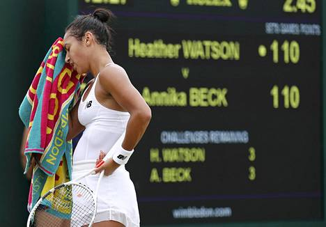 Heather Watsonin Wimbledon-turnaus alkoi ikävissä merkeissä.