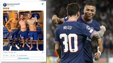 PSG voitti supertähtiensä johdolla Manchester Cityn Mestarien liigassa.