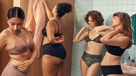 Uudessa alusvaatekampanjassa poseeraa joukko kaikenlaisia naisia.