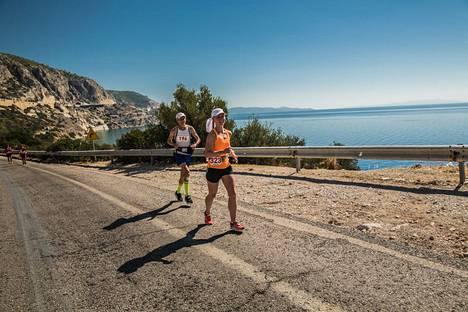 Spartathlonin 246 km pitkä reitti kulkee Ateenasta Spartaan.
