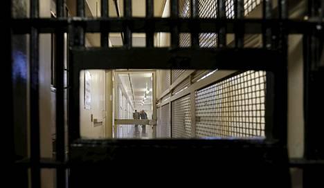 Kuolemansellit kattavan itäosaston käytävä San Quentinin vankilassa 2015.
