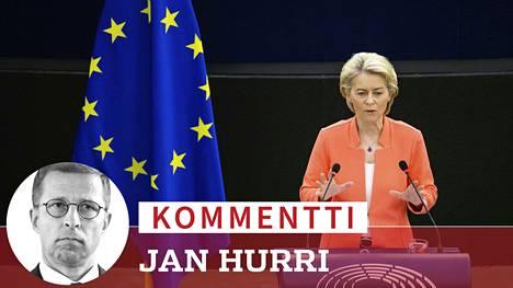 Komission puheenjohtaja Ursula von der Leyen piti Unionin tila -linjapuheensa EU-parlamentin istunnossa.