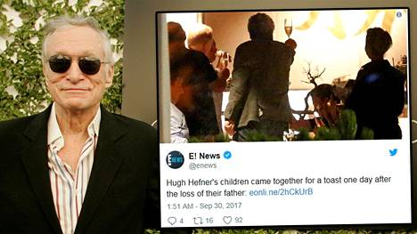 Hugh Hefneriä jäi suremaan neljä lasta.