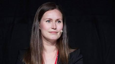 SDP:n kansanedustaja Sanna Marin Porissa heinäkuussa.