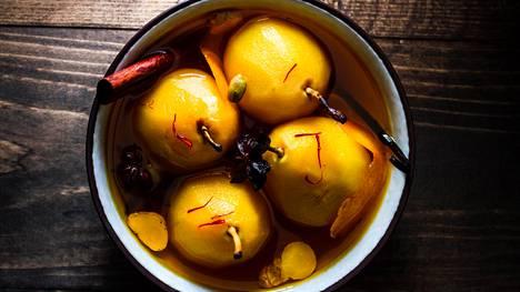 Makeat päärynät voi valmistaa hyvissä ajoin ennen joulua.