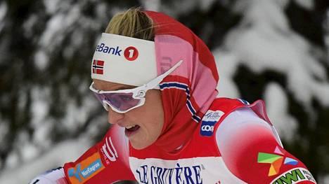 Therese Johaug oli ylivoimainen Norjan mestaruuskilpailuissa. Arkistokuva.