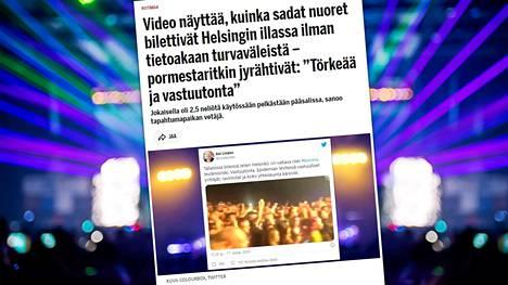 IS kertoi Helsingissä järjestytyistä reiveistä lauantaina.