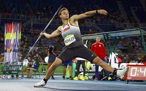 Viidennellä kierroksella tärähti! Thomas Röhler heitti olympiavoittoon tuloksella 90,30.