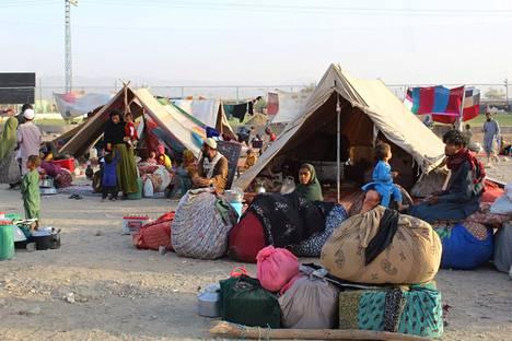 Afgaanipakolaisia Pakistanin Chamanissa 31. elokuuta.