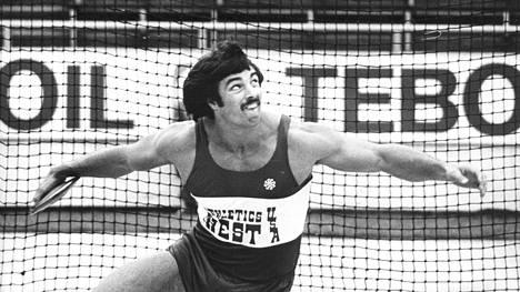 Mac Wilkins oli tuttu näky Helsingin Olympiastadionin kiekkoringissä 1970- ja 1980-luvuilla.
