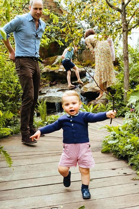 Huhtikuussa yksivuosipäiväänsä viettänyt Louis on oppinut kävelemään.
