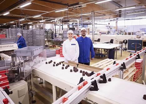 Brunbergin makeisia voi ostaa tehtaanmyymälästä Porvoosta.
