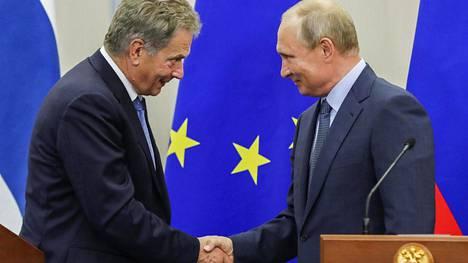 Sauli Niinistö ja Vladimir Putin tapasivat viime elokuussa Sotshissa Venäjällä.